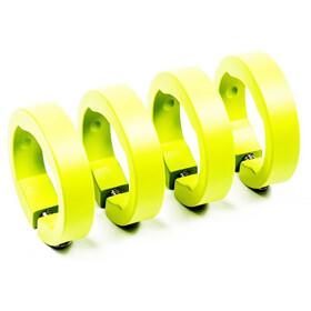 Sixpack Ersatzklemmringe Aluminium neon gelb